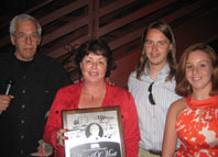 Recipient Herman Miron, accepted his family Kathy, Thom, and Taylor Miron, presented by George Notarianni