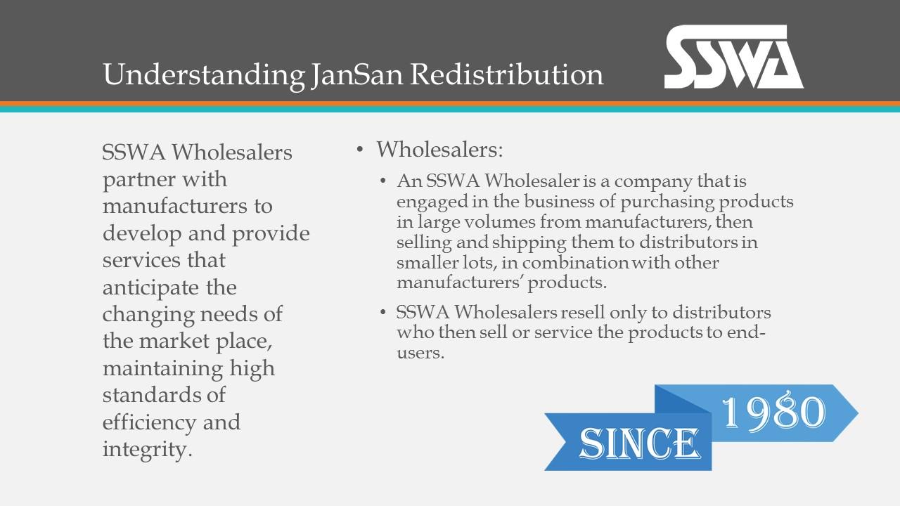Understanding JanSan Redistribution